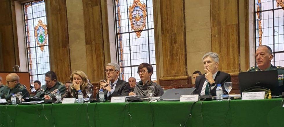 Pleno del Consejo de la Guardia Civil presidido por el ministro del Interior, Fernando Grande Marlaska.